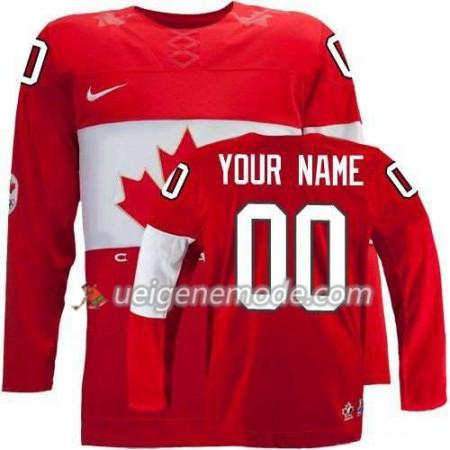 Reebok Dame Eishockey Canada Team Trikot Custom Rot Auswärts 2014