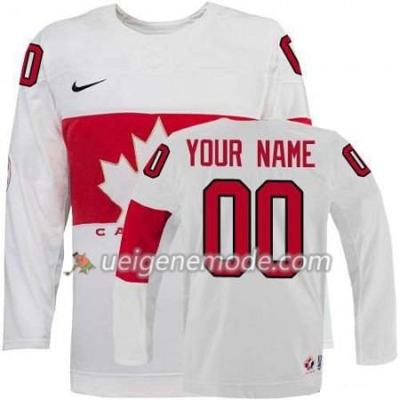 Kinder Eishockey Canada Team Trikot Custom weiß Heim 2014