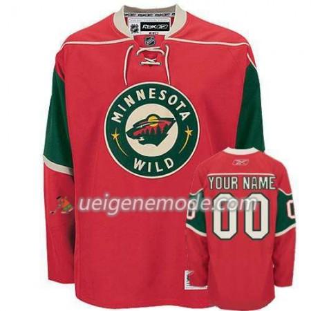 Reebok Dame Eishockey Minnesota Wild Trikot Custom Rot Premier Heim