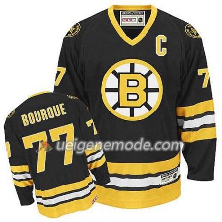 Reebok Herren Eishockey Boston Bruins Trikot Ray Bourque #77 Throwback Schwarz