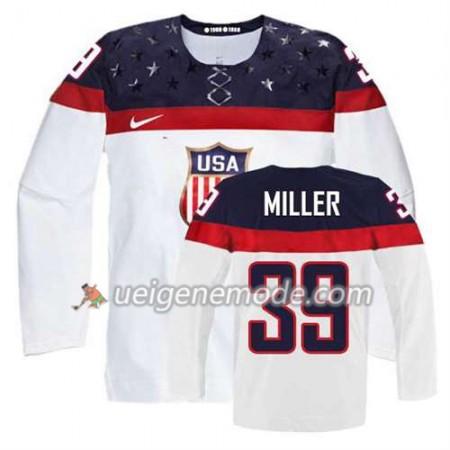Kinder Eishockey Premier Olympic-USA Team Trikot Ryan Miller #39 Heim Weiß