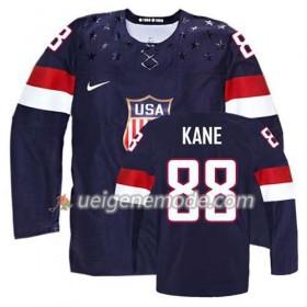 Kinder Eishockey Premier Olympic-USA Team Trikot Patrick Kane #88 Auswärts Blau