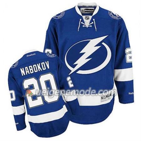 Reebok Herren Eishockey Tampa Bay Lightning Trikot Evgeni Nabokov #20 Heim Bleu