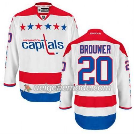 Reebok Herren Eishockey Washington Capitals Trikot Troy Brouwer #20 Ausweich Weiß